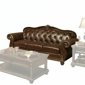 ACME Anondale Sofa - 15030 - Espresso Top Grain Leather Match