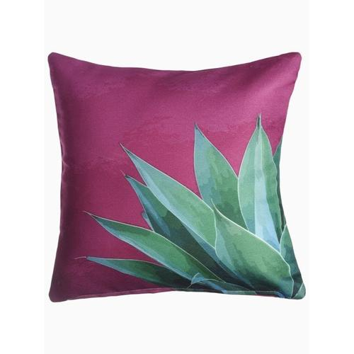 """Fab Habitat - Tropical Leaves Double Sided Indoor Outdoor Decorative Pillow - Green & Pink (20"""" x 20"""")"""