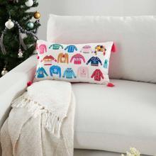 "Holiday Pillows Ac023 Multicolor 12"" X 20"" Throw Pillow"