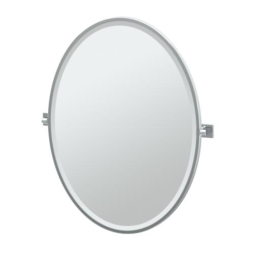 Elevate Framed Oval Mirror in Chrome