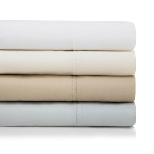600 TC Cotton Blend Split Queen White