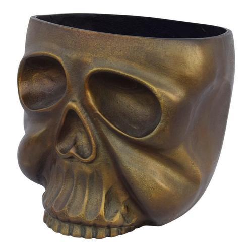 Metal Skull Planter