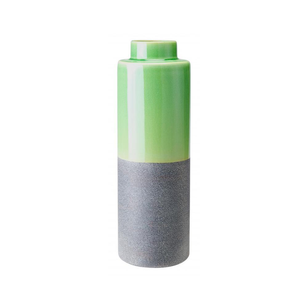 Medium Stoneware Bottle Green & Gray