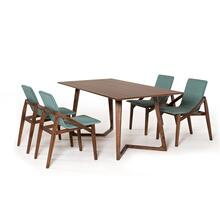 View Product - Modrest Jett Contemporary Walnut Dining Table
