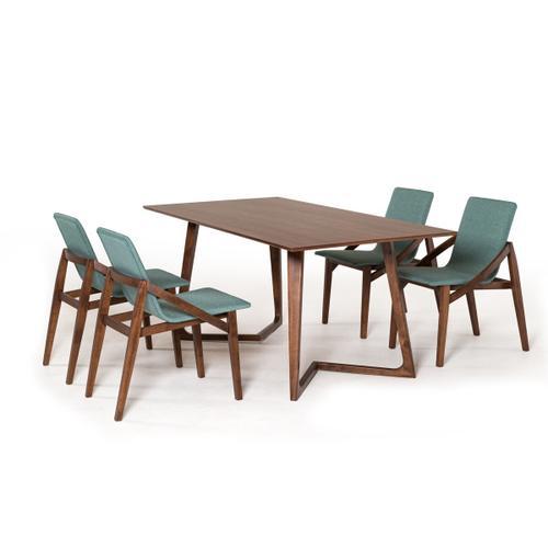 VIG Furniture - Modrest Jett Contemporary Walnut Dining Table