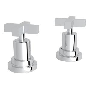 """Polished Chrome Lombardia Set Of Hot & Cold 1/2"""" Sidevalves with Cross Handle Product Image"""