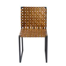Irving Woven Leather Dining Chair
