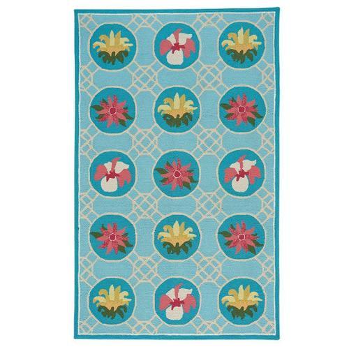 Flower Trellis Lt. Blue - Rectangle - 3' x 5'