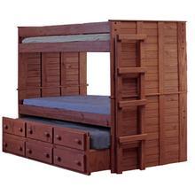 Full/Full Bunk Bed w/Trundle Unit