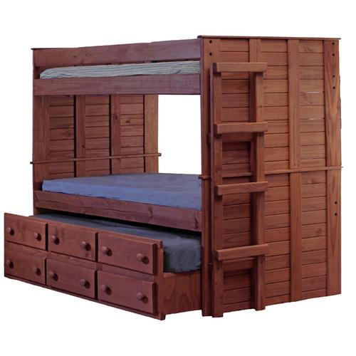 Twin/Twin Bunk Bed w/Trundle Unit