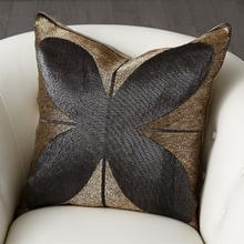 See Details - Blossom Beaded Pillow-Gold/Black