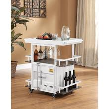 WHITE SERVING CART @N