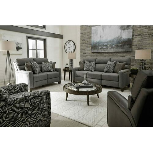 Double Reclining Power Headrest Loveseat with Pillows