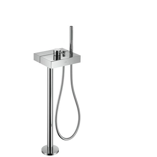 Brushed Brass Single lever bath mixer floor-standing