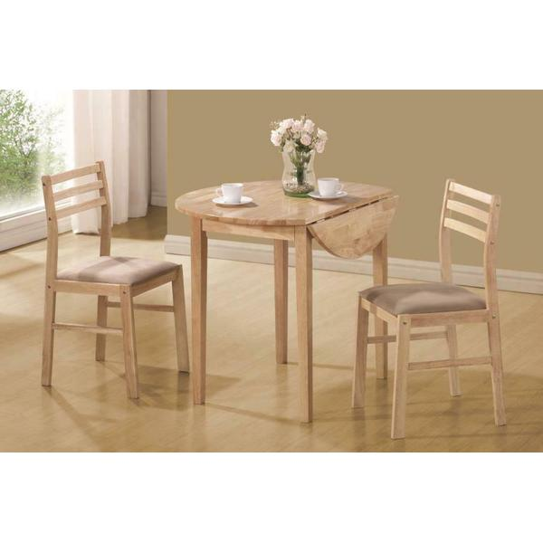 See Details - Casual Natural and Beige Three-piece Dining Set