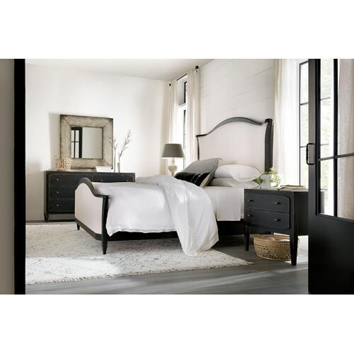 Bedroom Ciao Bella 5/0 Upholstered Headboard- Black