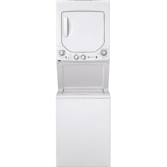 GE GE Unitized Spacemaker® 2.3 cu. ft. Capacity Washer with Stainless Steel Basket and 4.4 cu. ft. Capacity Gas Dryer