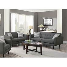 Stansall Mid-century Modern Grey Two-piece Living Room Set
