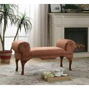 ACME Aston Bench w/Rolled Arm - 05626 - Chocolate Microfiber Product Image
