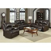 Boston Brown Reclining Three-piece Living Room Set