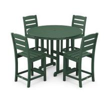 View Product - Lakeside 5-Piece Round Counter Side Chair Set in Green