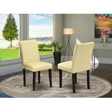 Abbott Parson Chair With Black Leg And Pu Leather Color Eggnog