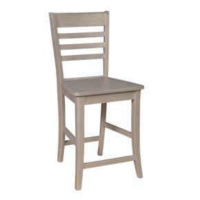 Roma Stool in Taupe Gray