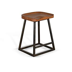 "24""H Stool, Wood Seat"