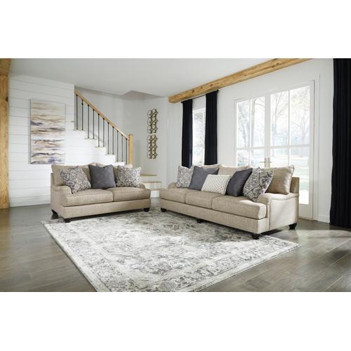 Reardon Sofa & Loveseat Stone