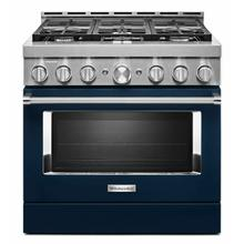 See Details - KitchenAid® 36'' Smart Commercial-Style Gas Range with 6 Burners - Ink Blue