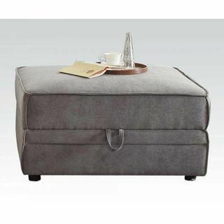 ACME Bois Ottoman w/Storage - 53782 - Gray Velvet
