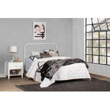Dakota Full/queen Metal Headboard With Frame, Soft White
