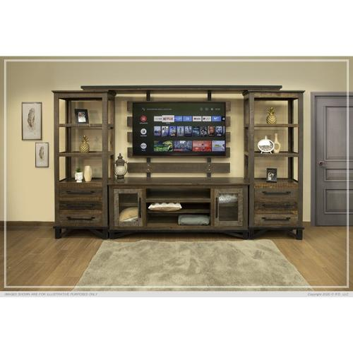 2 Doors & Shelves, TV Stand for Wall Unit
