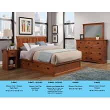O-M456-Q/CK/EK Mission Low Pedestal Bed