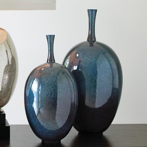 Global Views - Ovoid Vase-Celestial-Sm