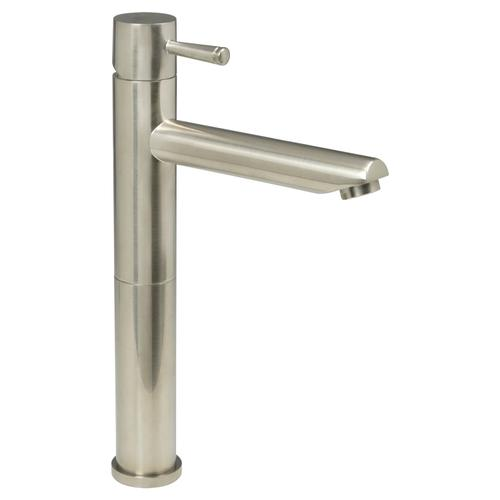 Serin 1-Handle Monoblock Vessel Bathroom Faucet - Brushed Nickel