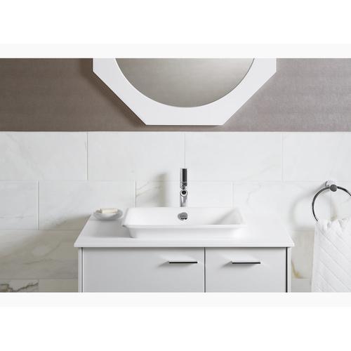 Sea Salt Bathroom Sink With White Painted Underside