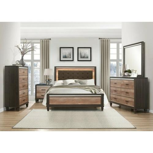 Homelegance - Queen Bed with LED Lighting