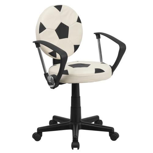 Soccer Swivel Task Chair with Arms