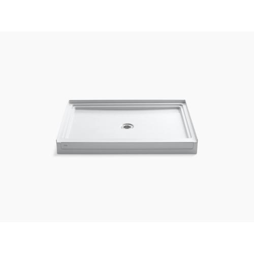 "Ice Grey 48"" X 36"" Single Threshold Center Drain Shower Base"
