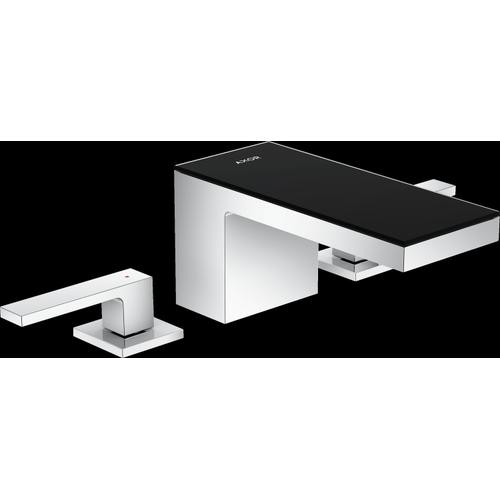 AXOR - Chrome / Black Glass Widespread Faucet 70, 1.2 GPM
