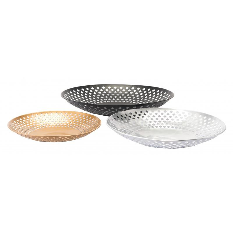See Details - Set Of 3 Shallow Bowls Multicolor