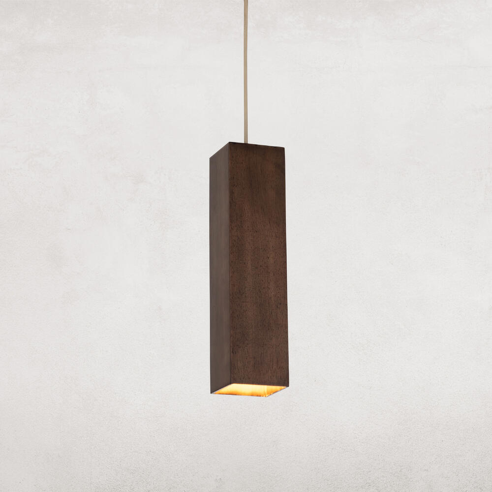 Walnut Finish Delphine Pendant
