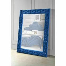 ACME Dante Accent Floor Mirror - 24238 - Glam - Velvet, Mirror - Blue Velvet