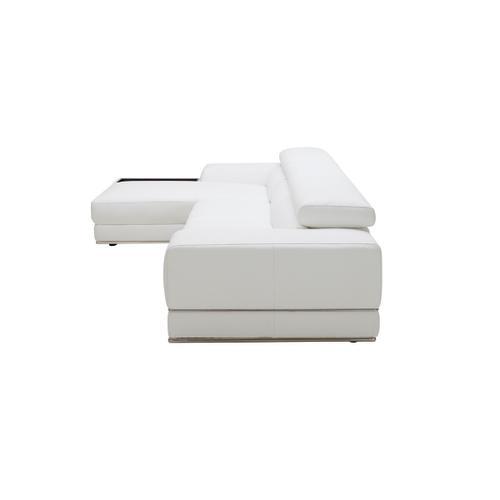 VIG Furniture - Divani Casa Chrysanthemum Mini - Modern White Leather Left Facing Sectional Sofa