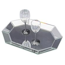 Octagonal Decorative Mirrored Tray