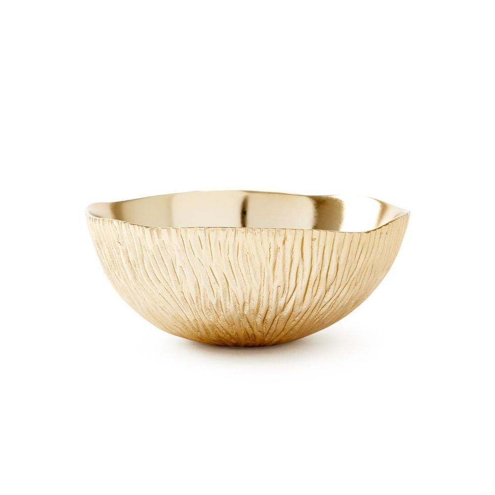 Coral Medium Bowl, Brass Finish