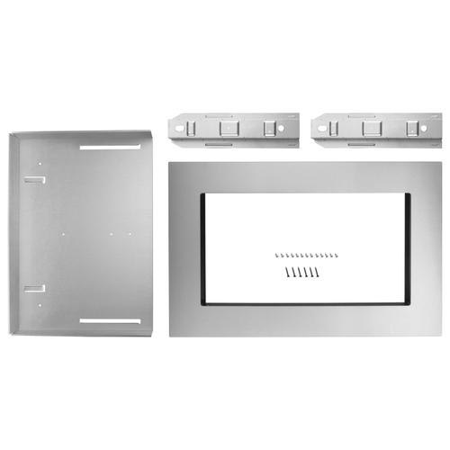 Whirlpool - 27 in. Trim Kit for 1.6 cu. ft. Countertop Microwave Oven Fingerprint Resistant Stainless Steel