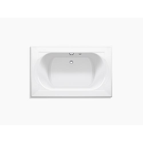 "Dune 66"" X 42"" Heated Bubblemassage Air Bath With Rear Drain"