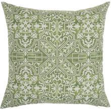 """Outdoor Pillows Bj078 Green 18"""" X 18"""" Throw Pillow"""